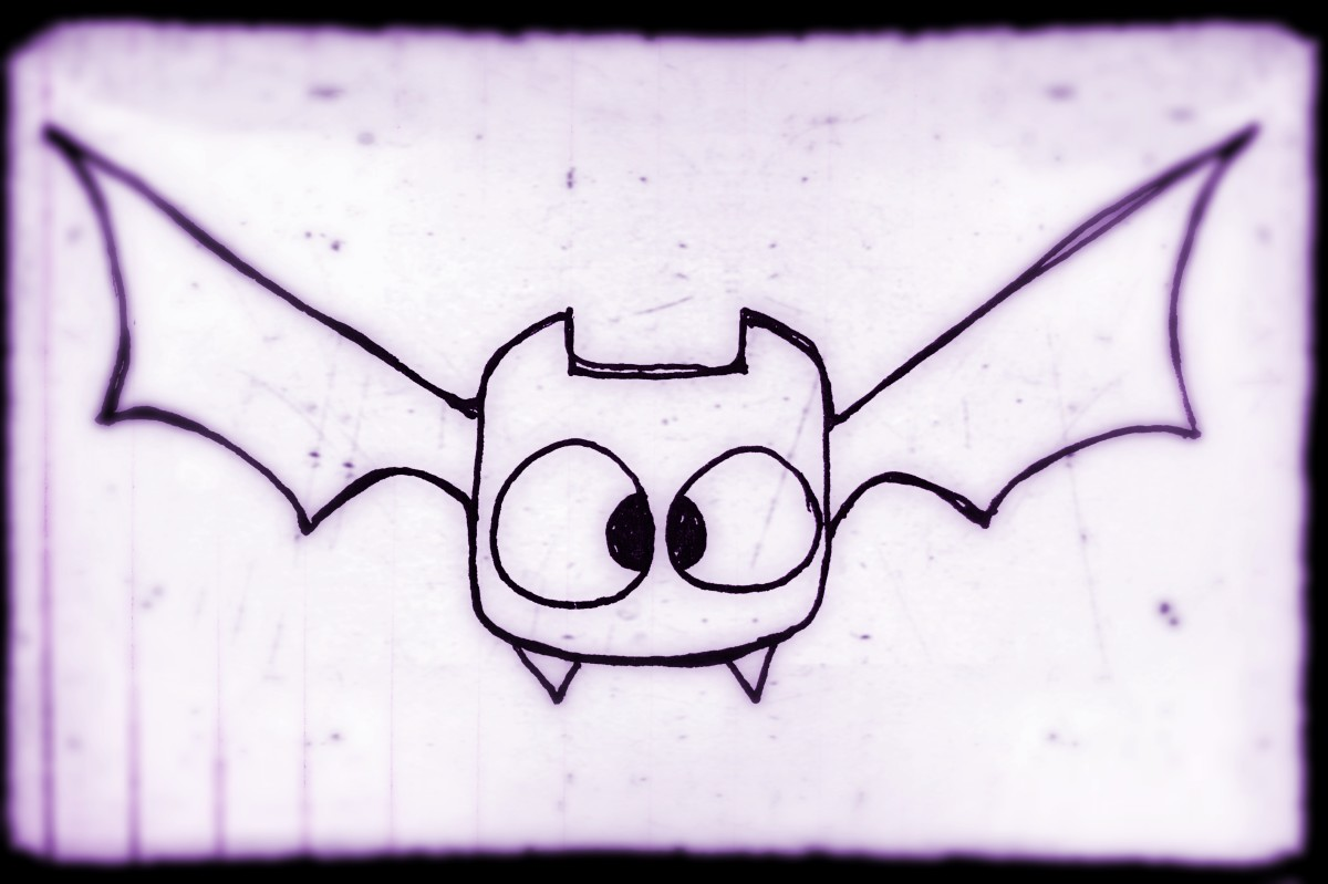 Learn to draw this cute cartoon bat, step by step. It's easy!