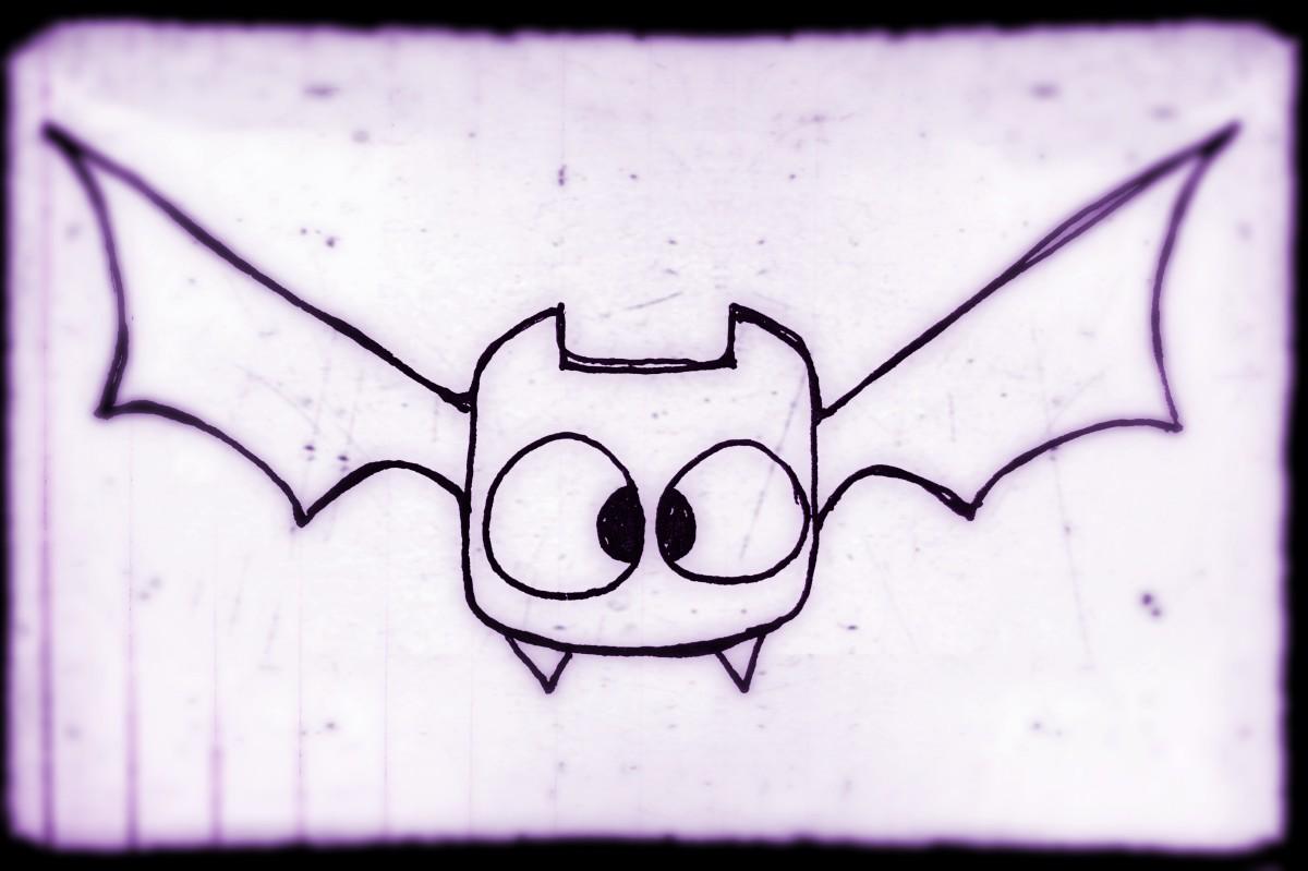 How To Draw A Cute Cartoon Bat Easy Step By Step Tutorial