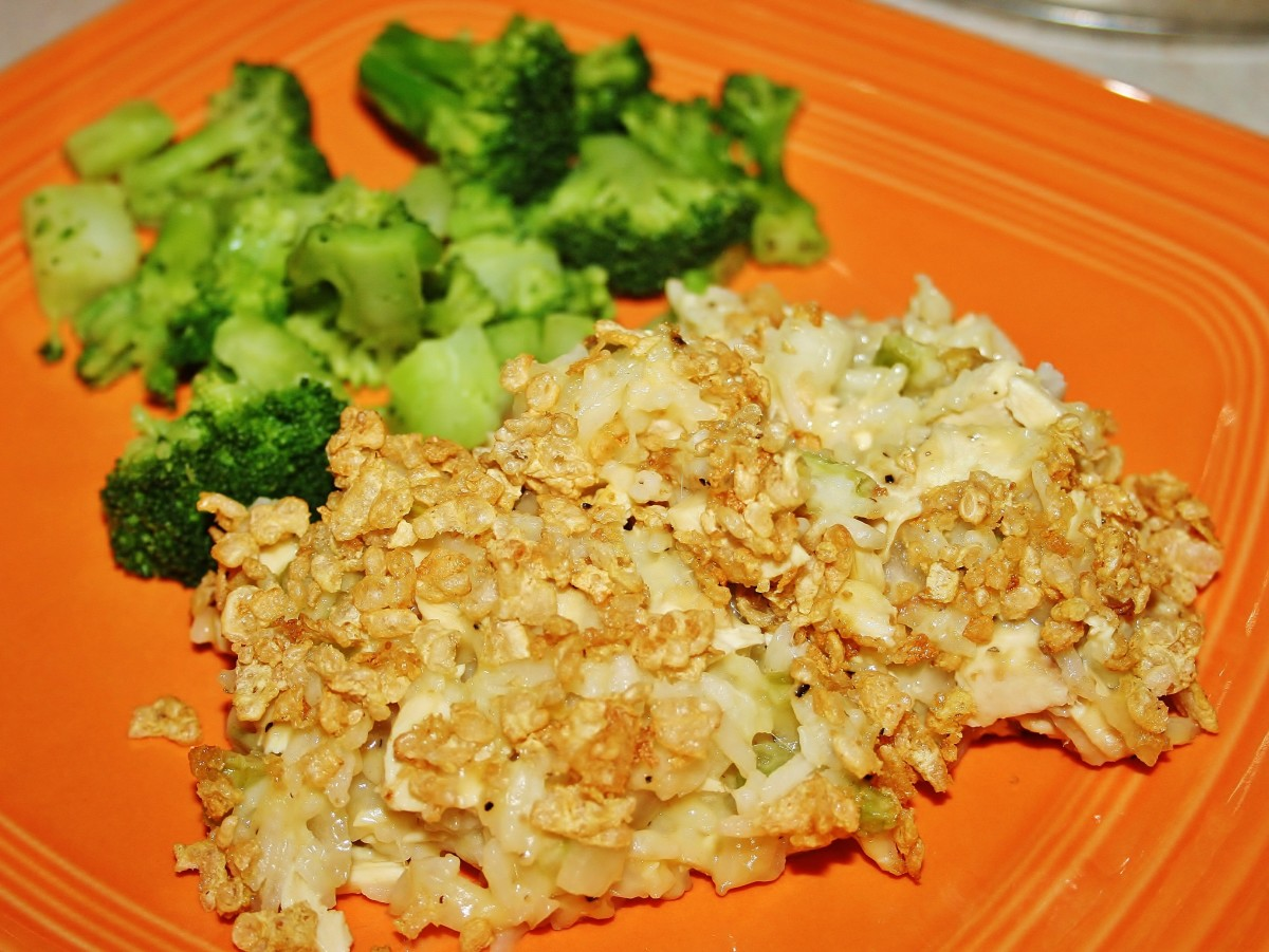 Chicken and rice casserole comfort food