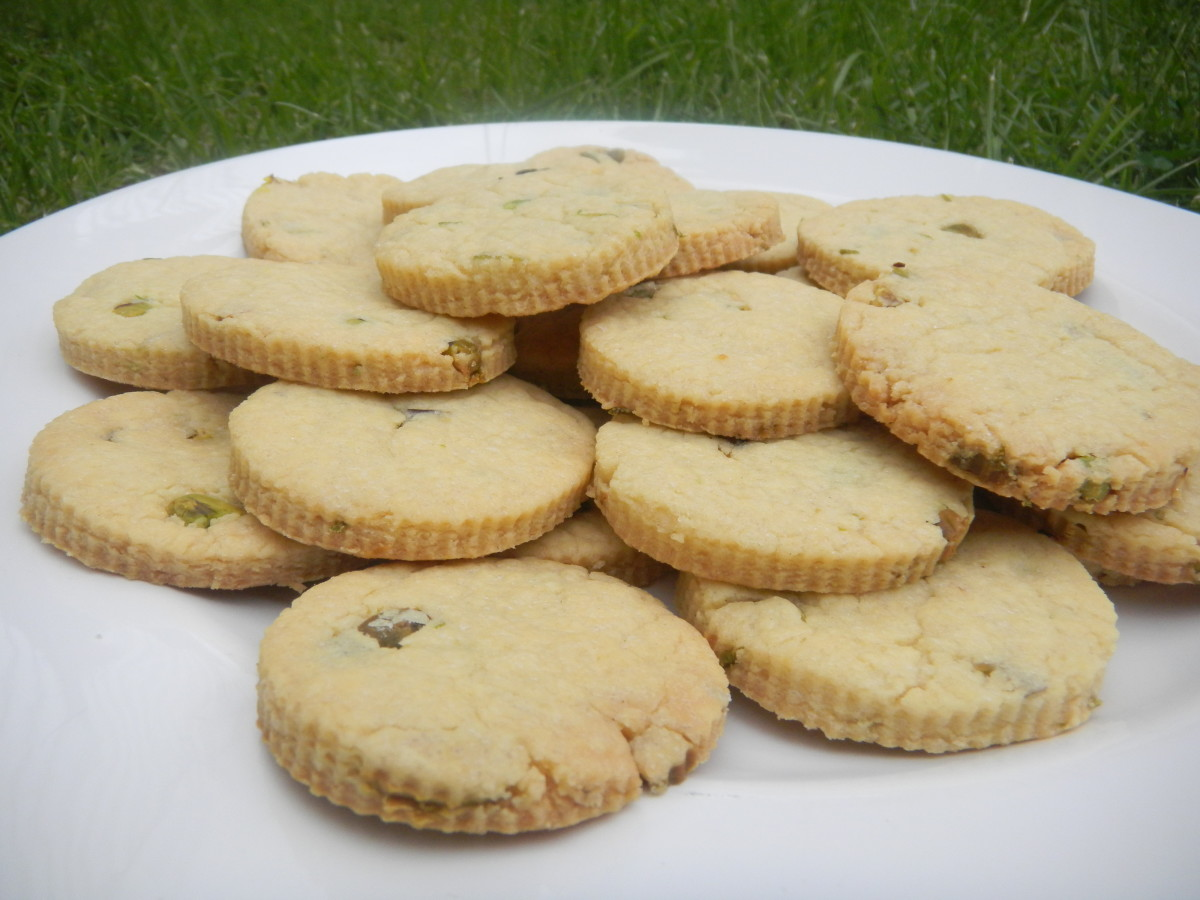 Orange Pistachio Butter Biscuits