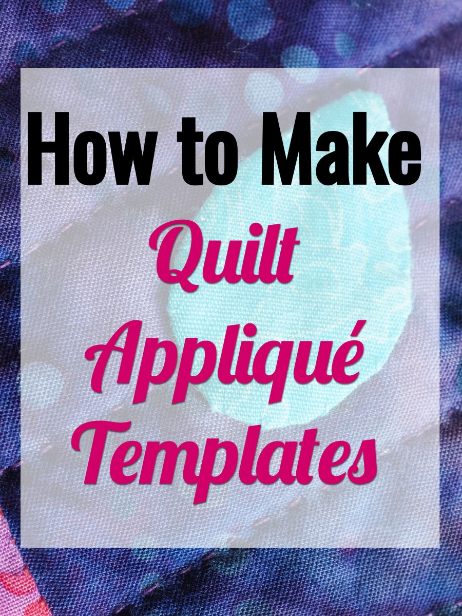 Create any quilt appliqué templates you want with this handy tutorial.