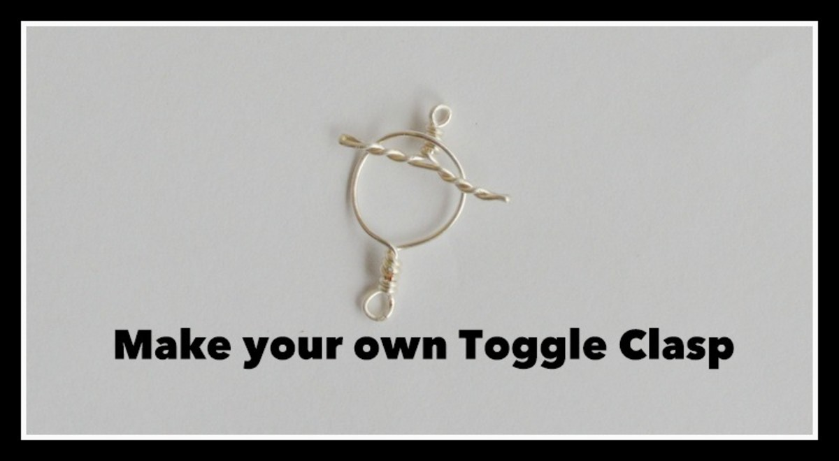How to Make your own Wire Toggle Clasp for Jewelry