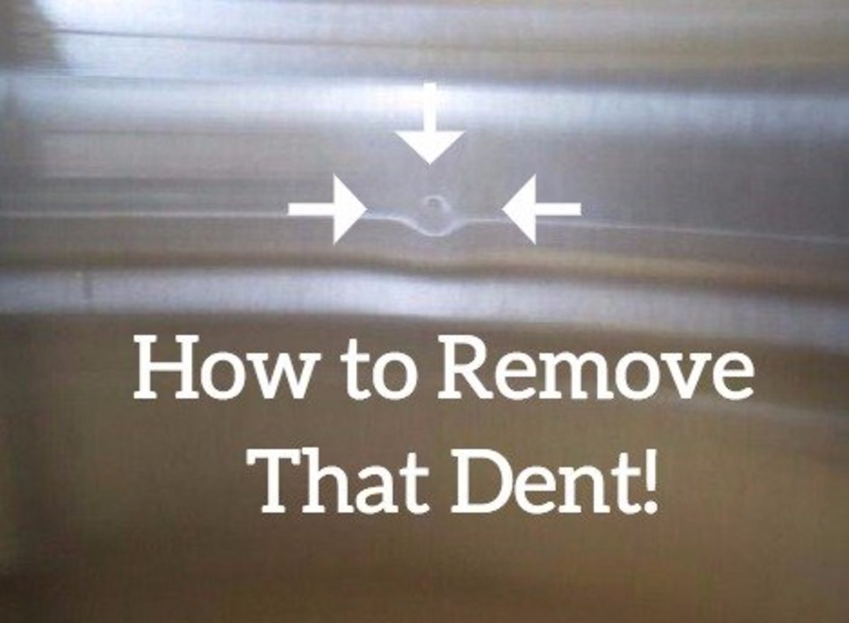 How to remove dents from stainless steel appliances for How much to paint a car door