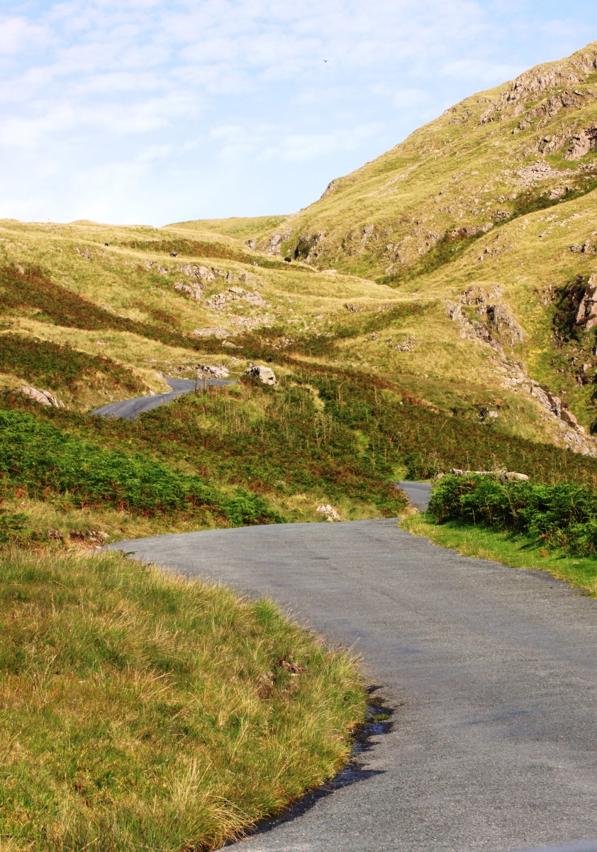 Cycling Hardknott Pass and Wrynose Pass