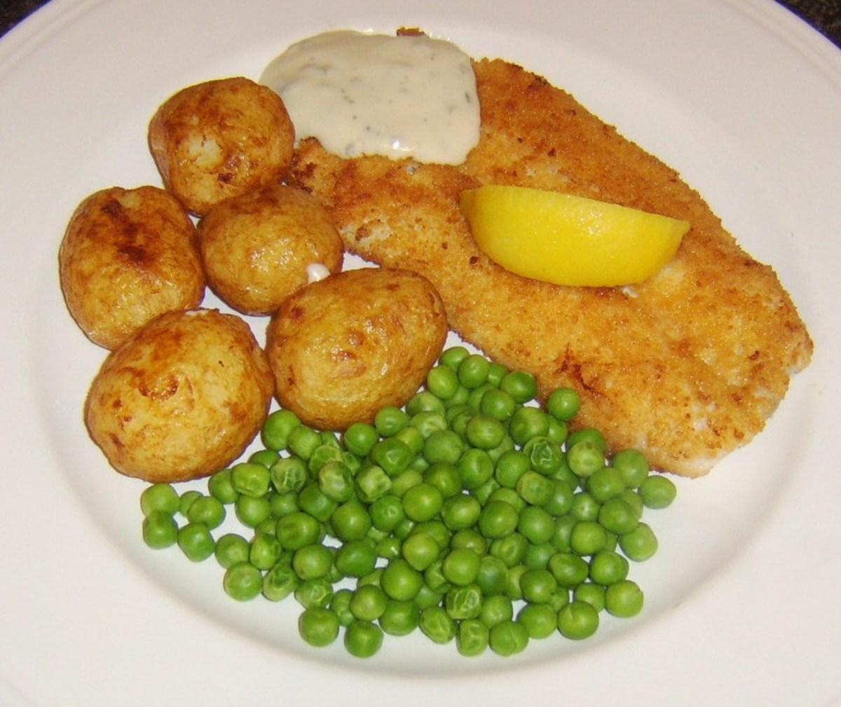 Breaded and pan fried haddock with roast potatoes and tartare sauce is one of the recipes found on this page
