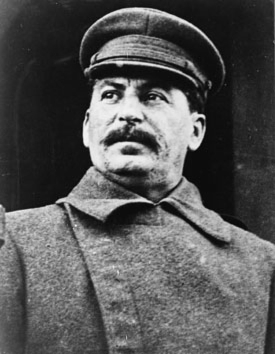 Joseph Stalin, leader of the Soviet Union following Lenin's death in 1924 up until his own death in 1953. Orthodox historians view Stalin as an aggressive expansionist who aspired to spread world communism.