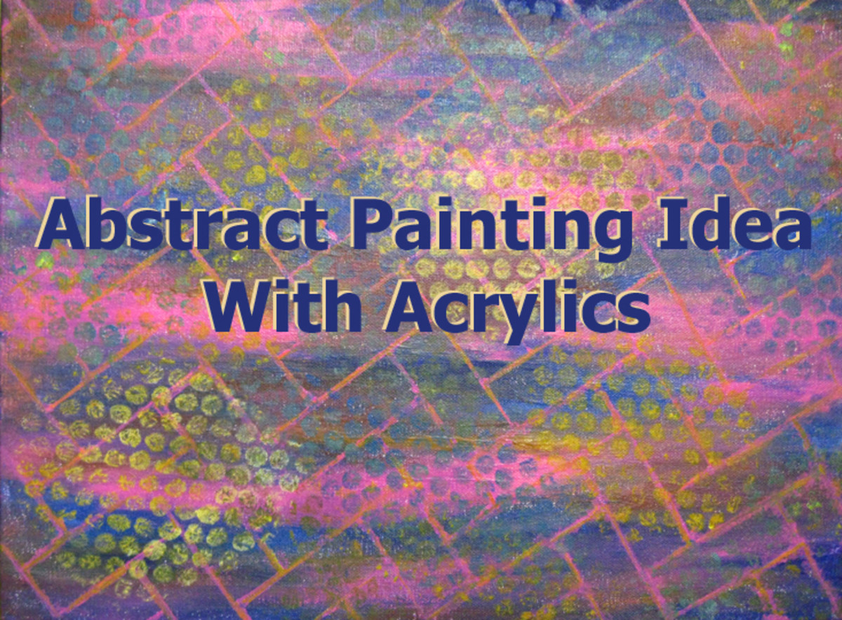 Abstract Painting Idea With Acrylics, Masking Tape, and Bubble Wrap