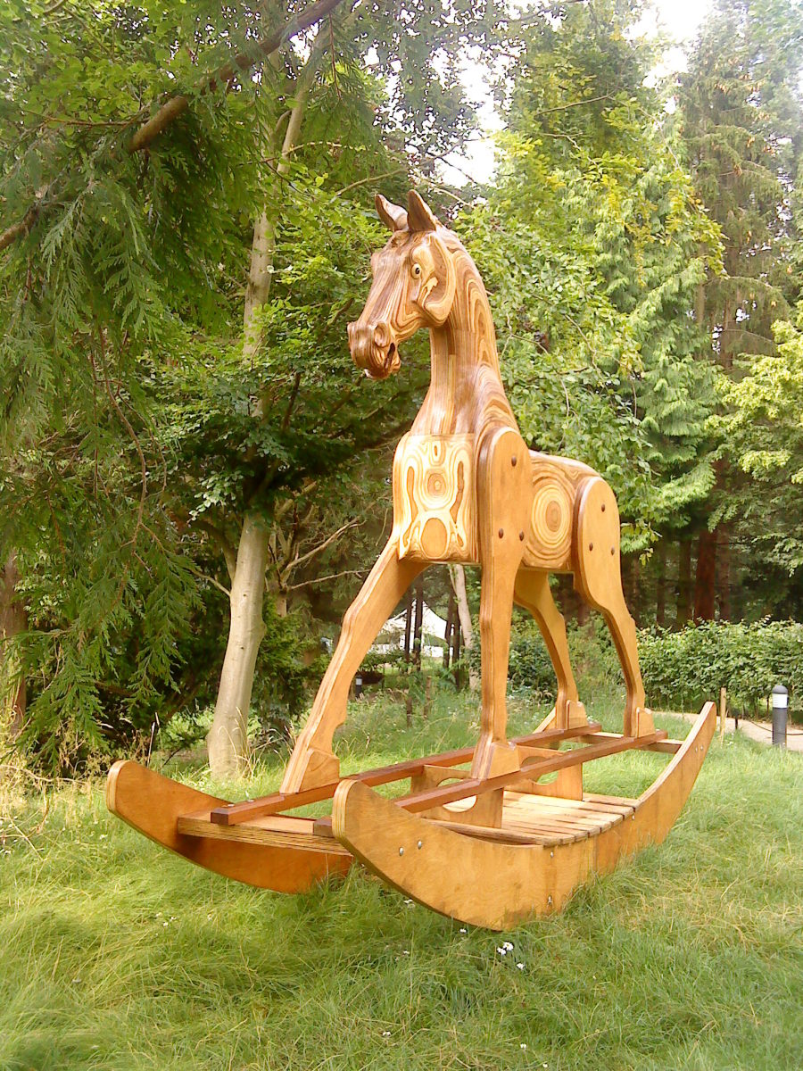 A fantastic giant rocking horse at YSP.