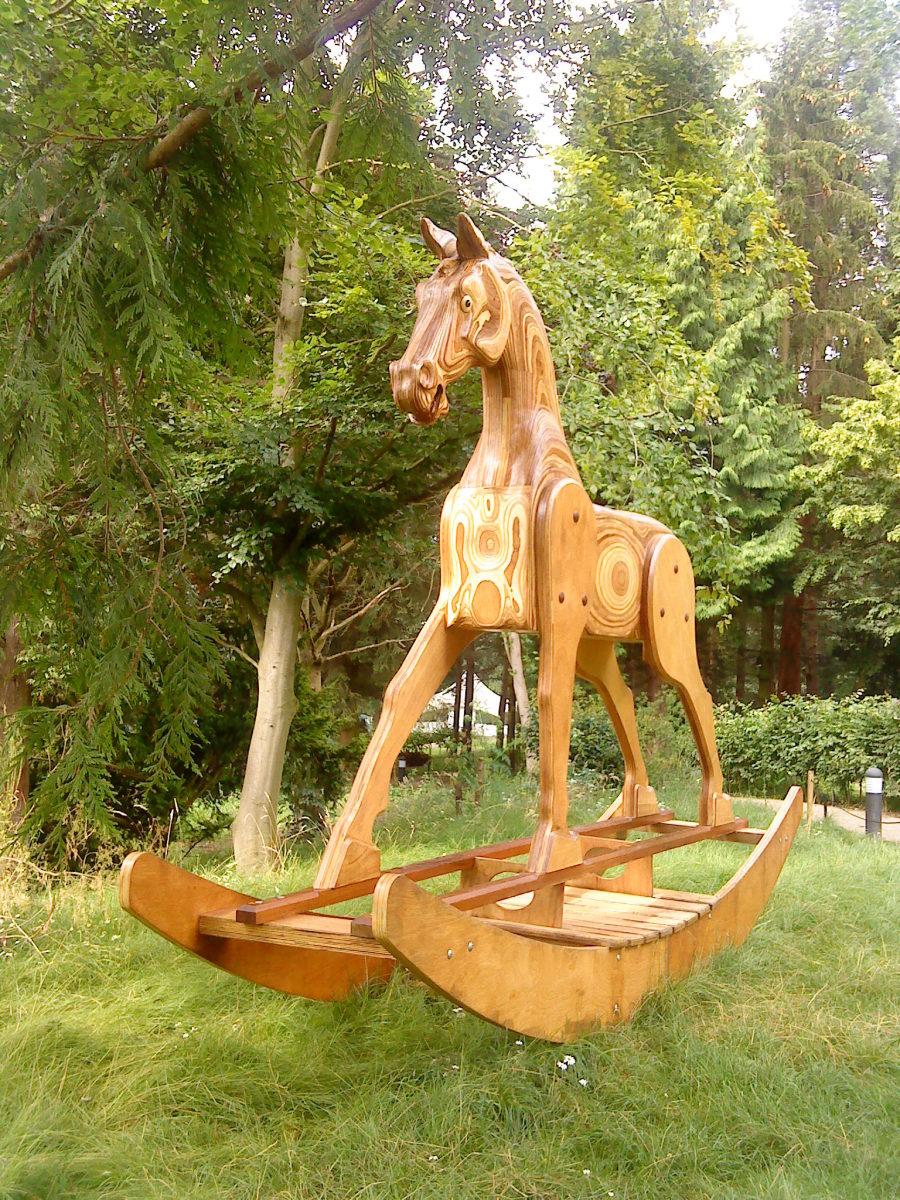 A fantastic giant rocking horse at YSP.