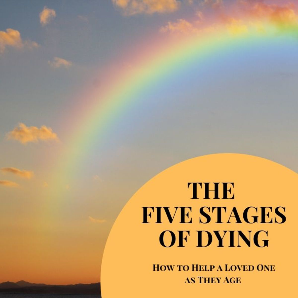 The stages of dying checklist can be used to understand how to deal with a relative's needs as they move through the dying process.