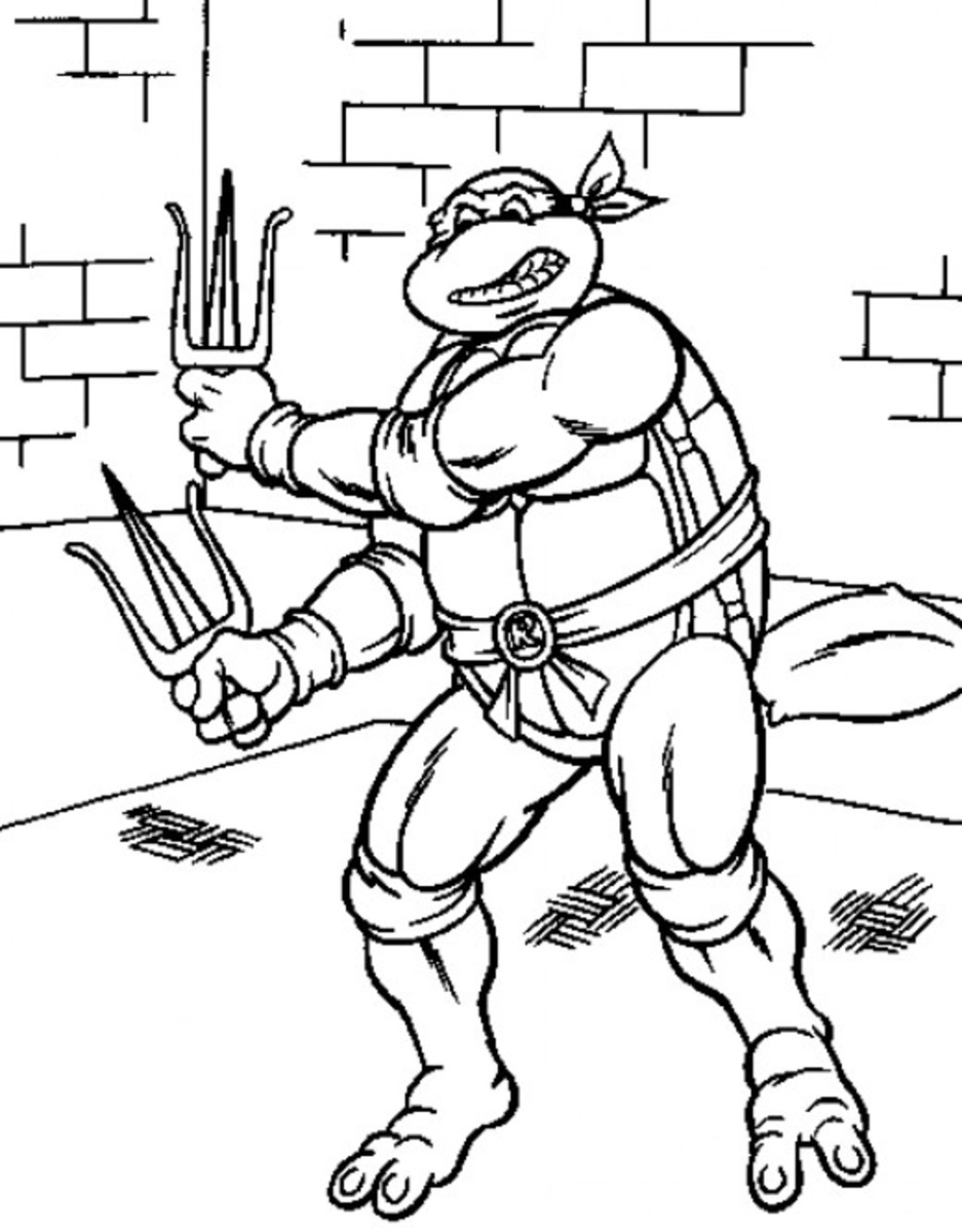 Teenage Mutant Ninja Turtles Printable Coloring Pages  FeltMagnet