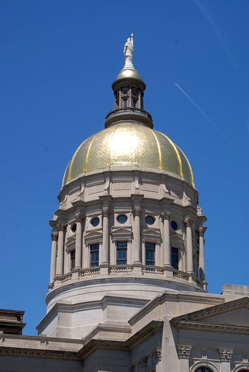 """The """"Gold Dome.""""  Photo courtesy connor.carey and Wikimedia Commons."""