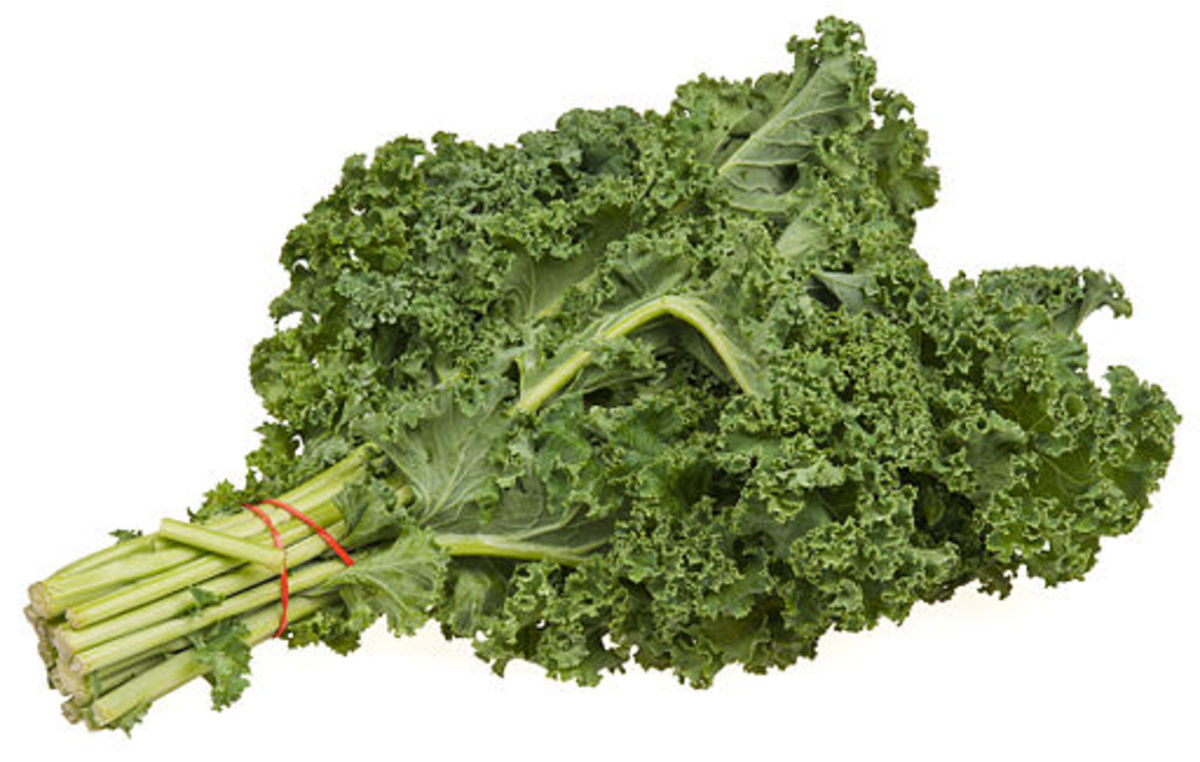 Kale as you'd find it in the grocery