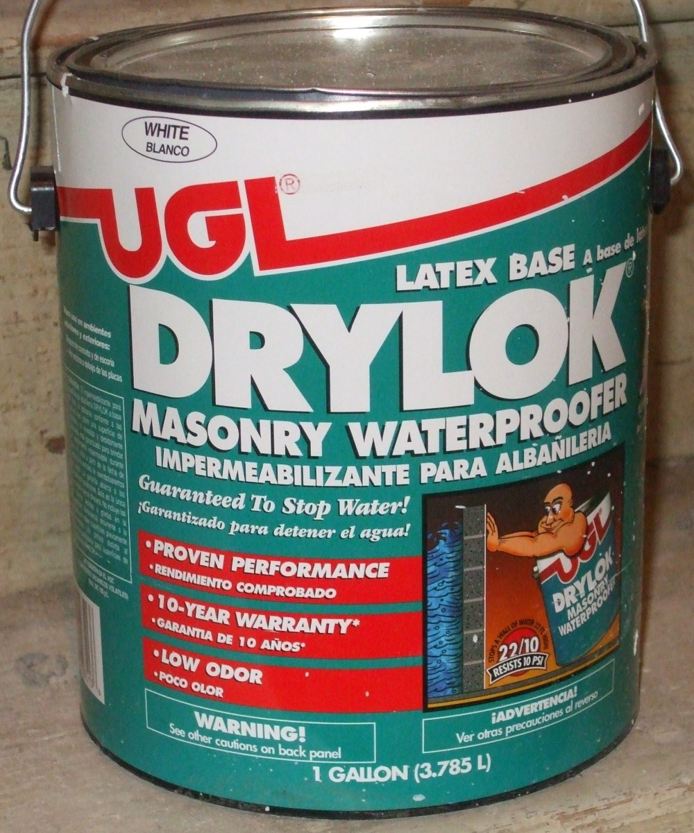 One paint which fills cracks in masonry is Drylok brand.