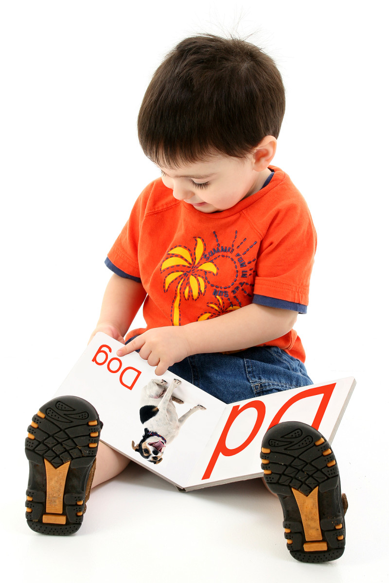 Even turning a page takes considerable skill. This is an example of a toddler's fine motor skills in action.