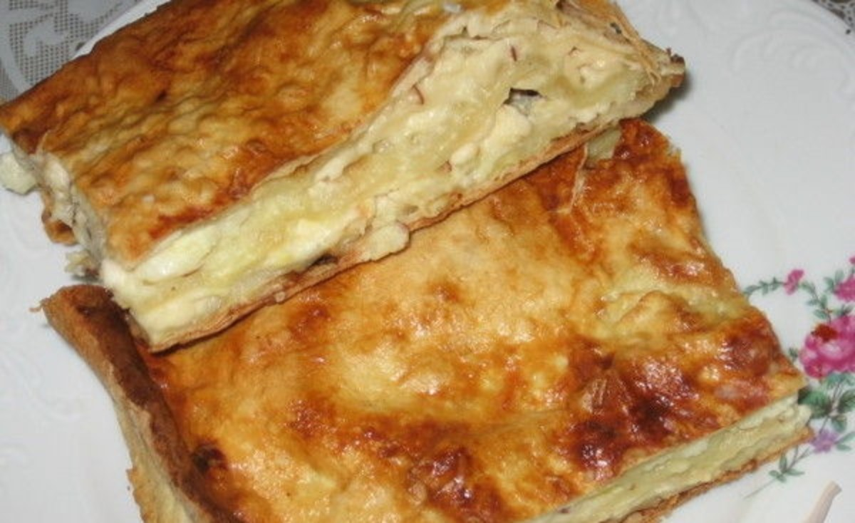 Hachapuri consists of dough filled with cheese and other ingredients like eggs and meat.
