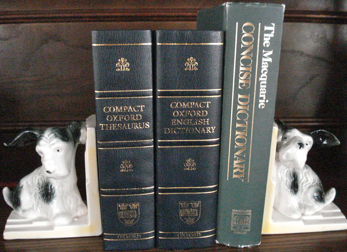 Australian and English Dictionaries and a Thesaurus