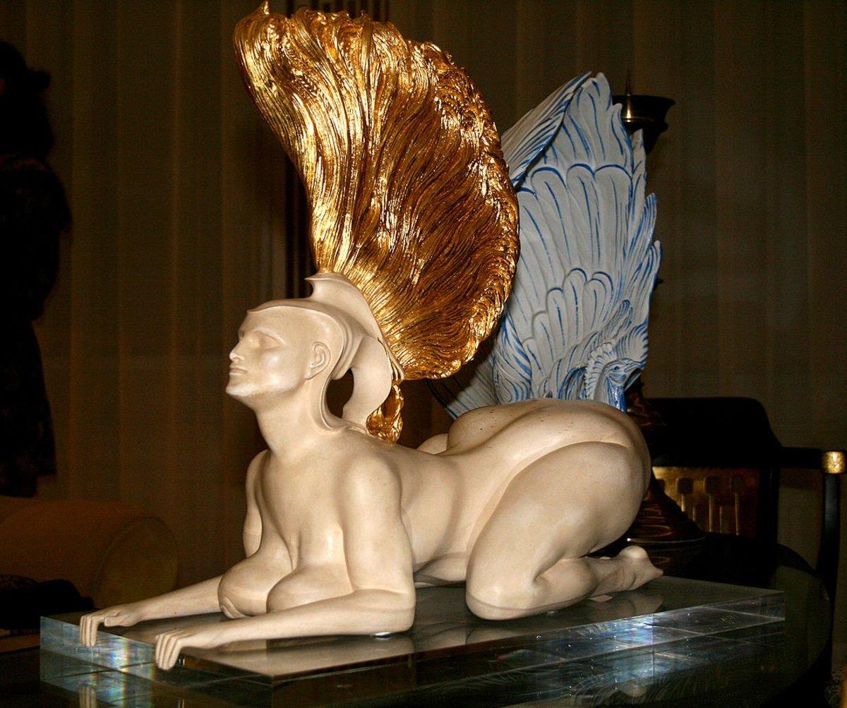 Bizarre modern art  Ur-Sphinx, 1978, by Ernst Fuchs