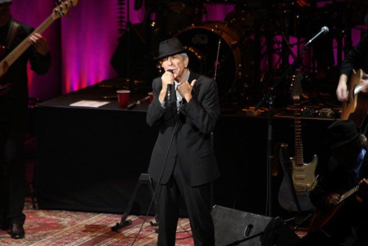 Leonard Cohen in 2010