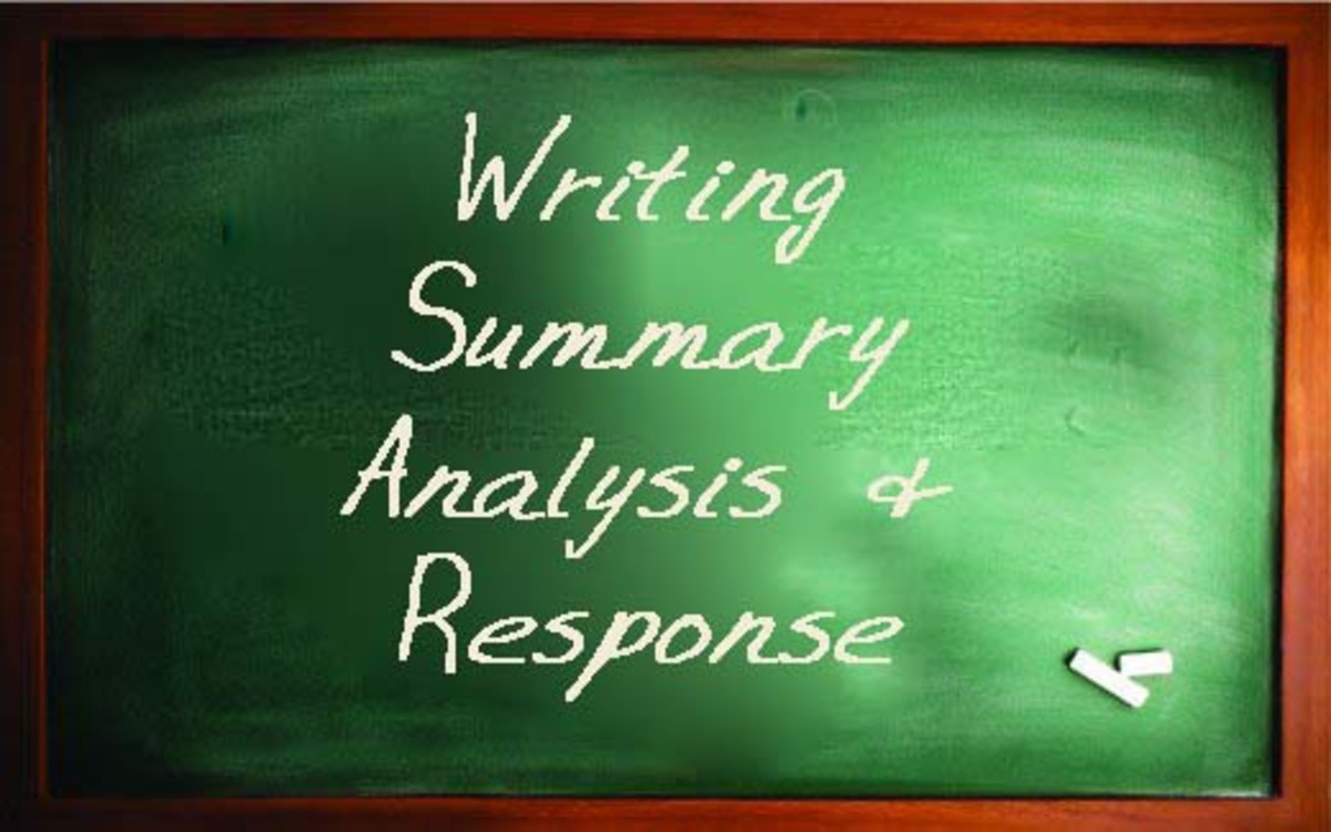 Writing Summary, Analysis, Response Papers