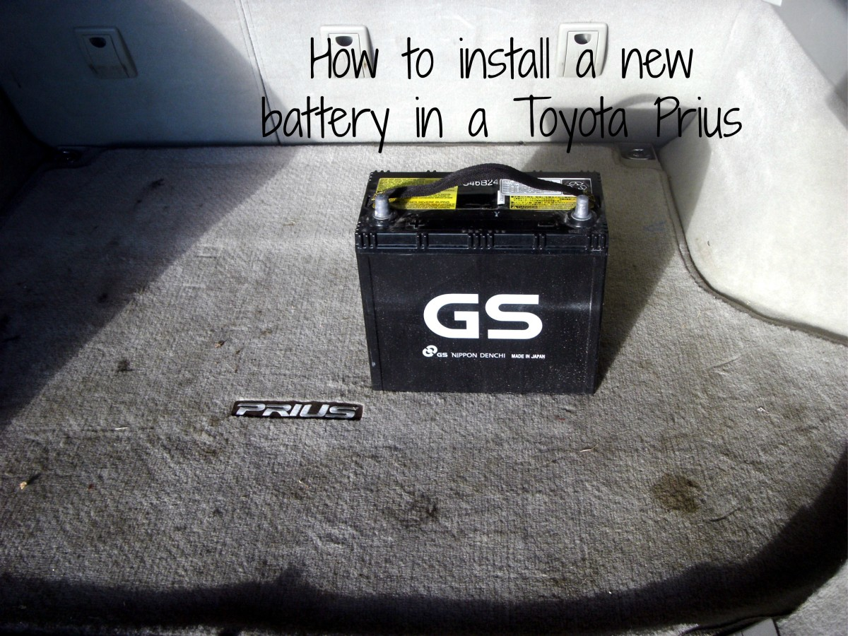 How to install a new 12 volt battery in a Toyota Prius