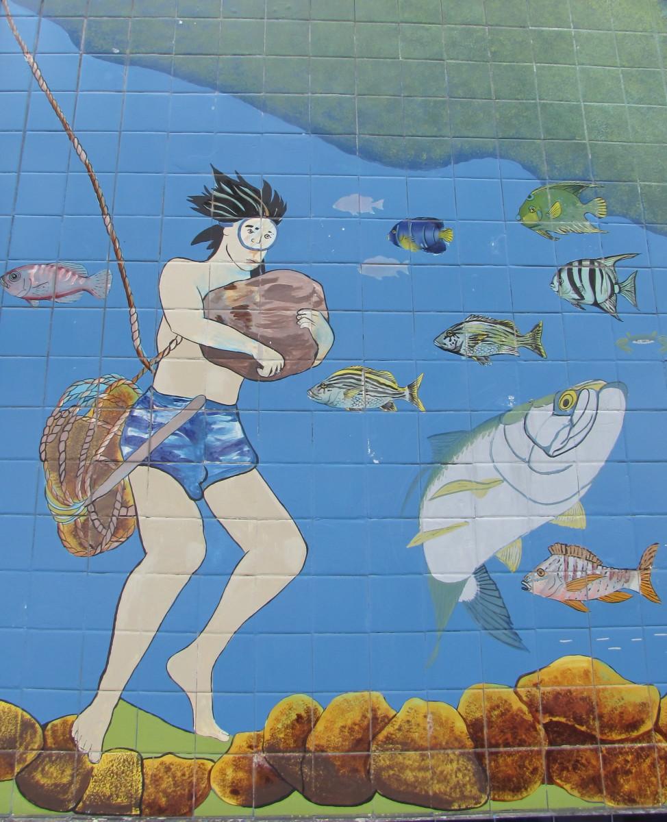 Tarpon Springs mural.
