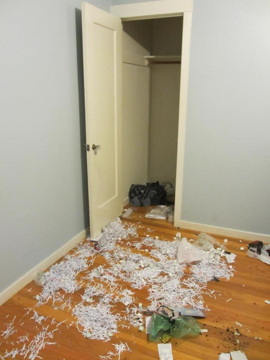 This is the state the Horrible Human Being left his room in when he finally moved out.