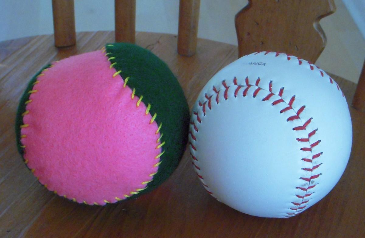 how to make a cloth ball feltmagnet. Black Bedroom Furniture Sets. Home Design Ideas