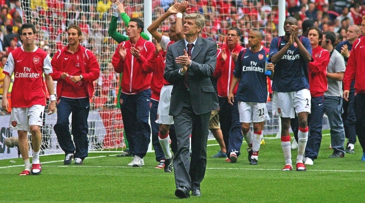 Football managers like Arsène Wenger are responsible for leading their team to victory.