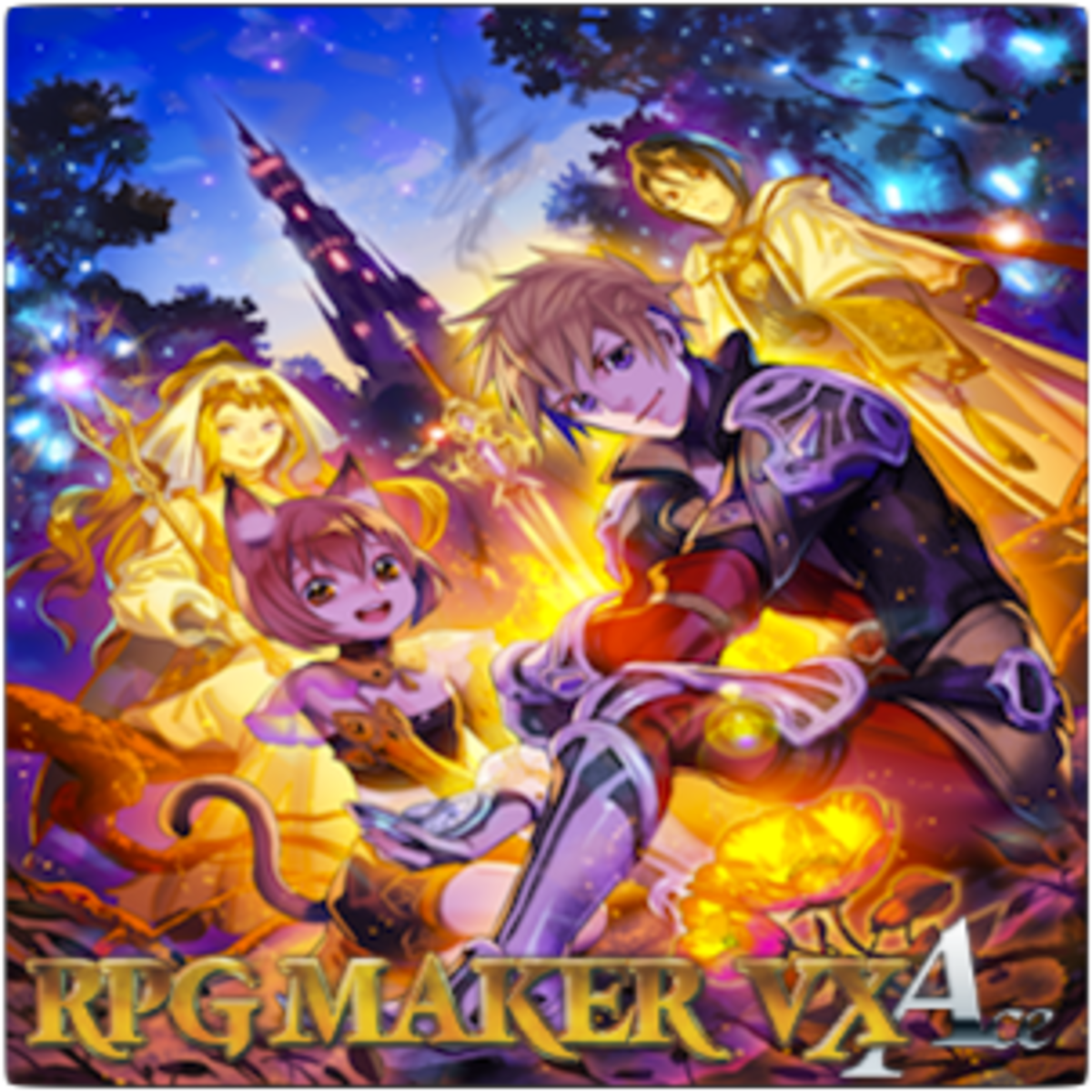 The cover art for the box copy of RPG Maker VX Ace.