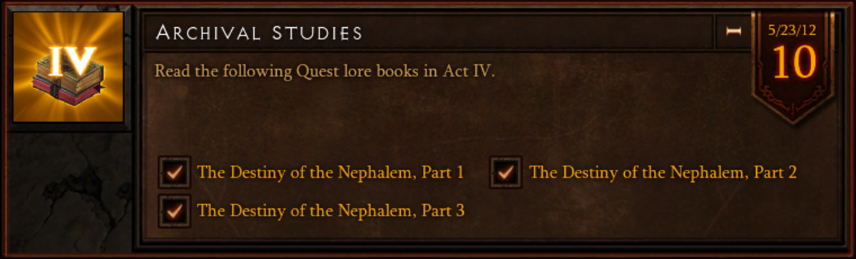 Archival Studies - Act IV - Quest Lore Book Location Guide - Diablo 3