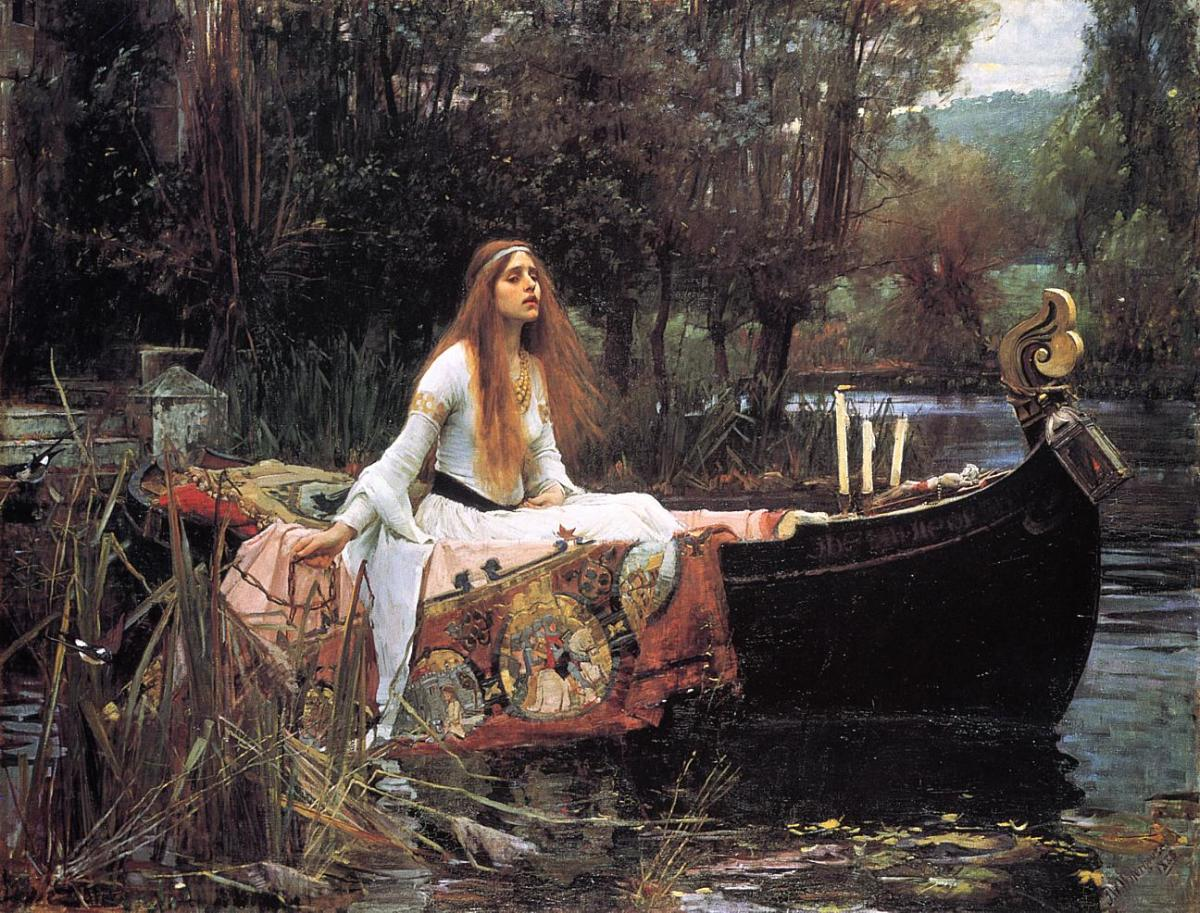 "John William Waterhouse's ""The Lady of Shalott"" - 1888"