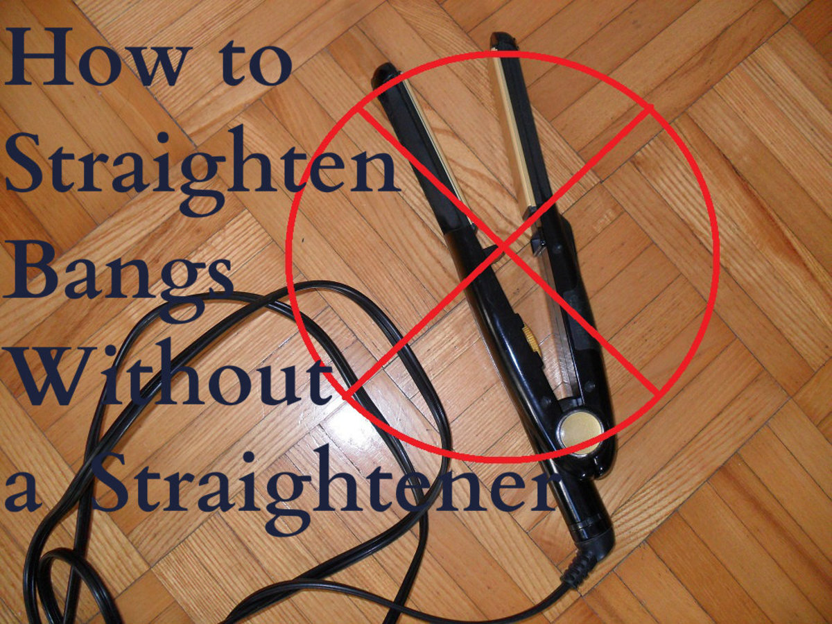 Straighten your bangs without a flat iron