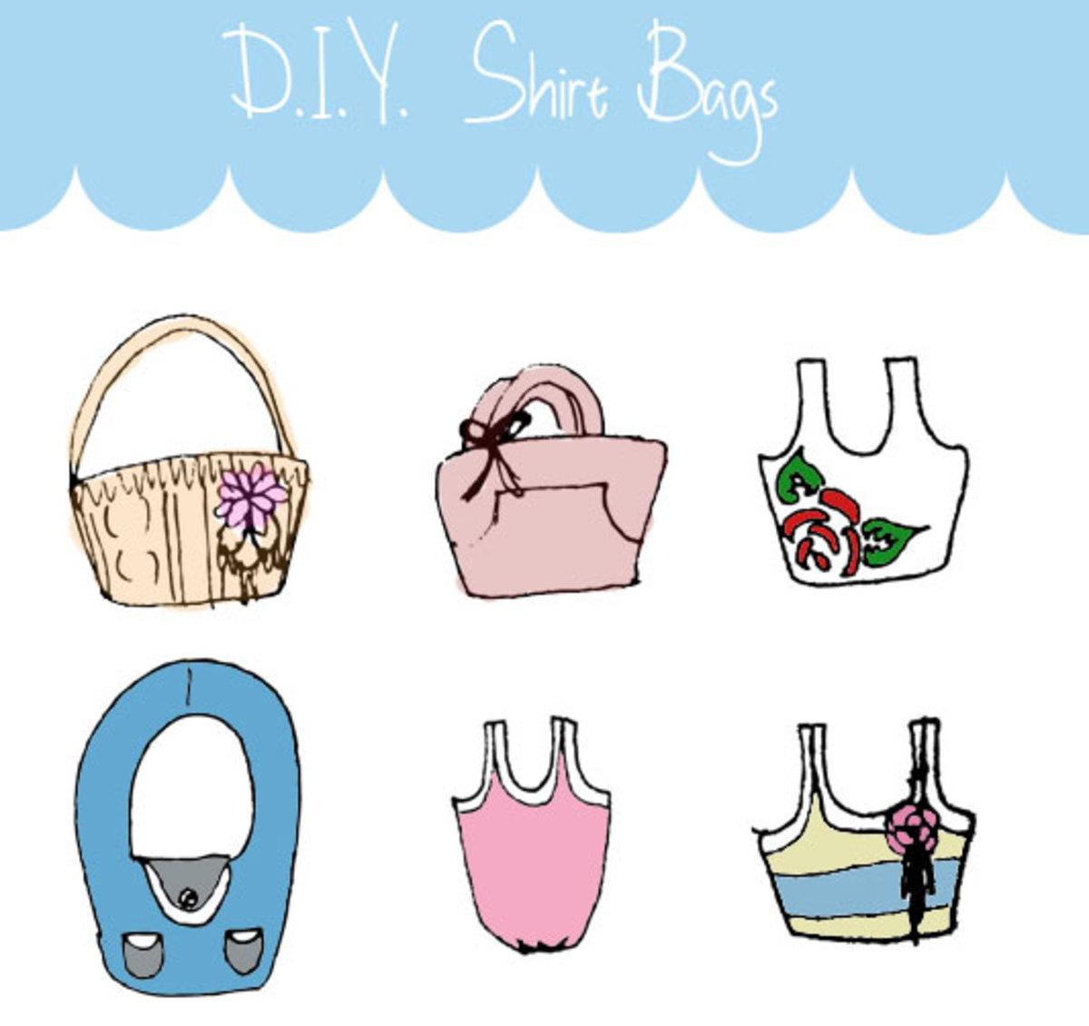DIY Shirt Bags