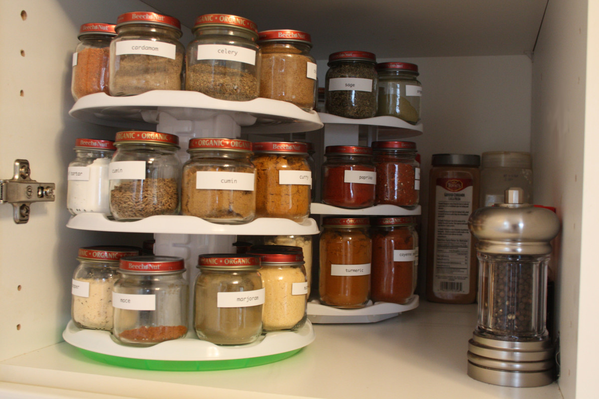 I love how organized my spices are now!
