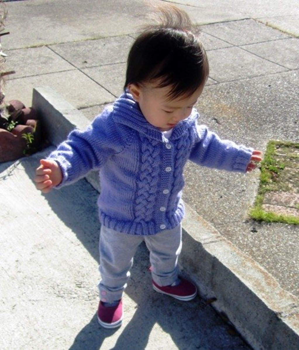 Free Knitting Pattern Baby Cable Cardigan : Free Knitting Pattern Seamless Braided Cable Baby Sweater ...