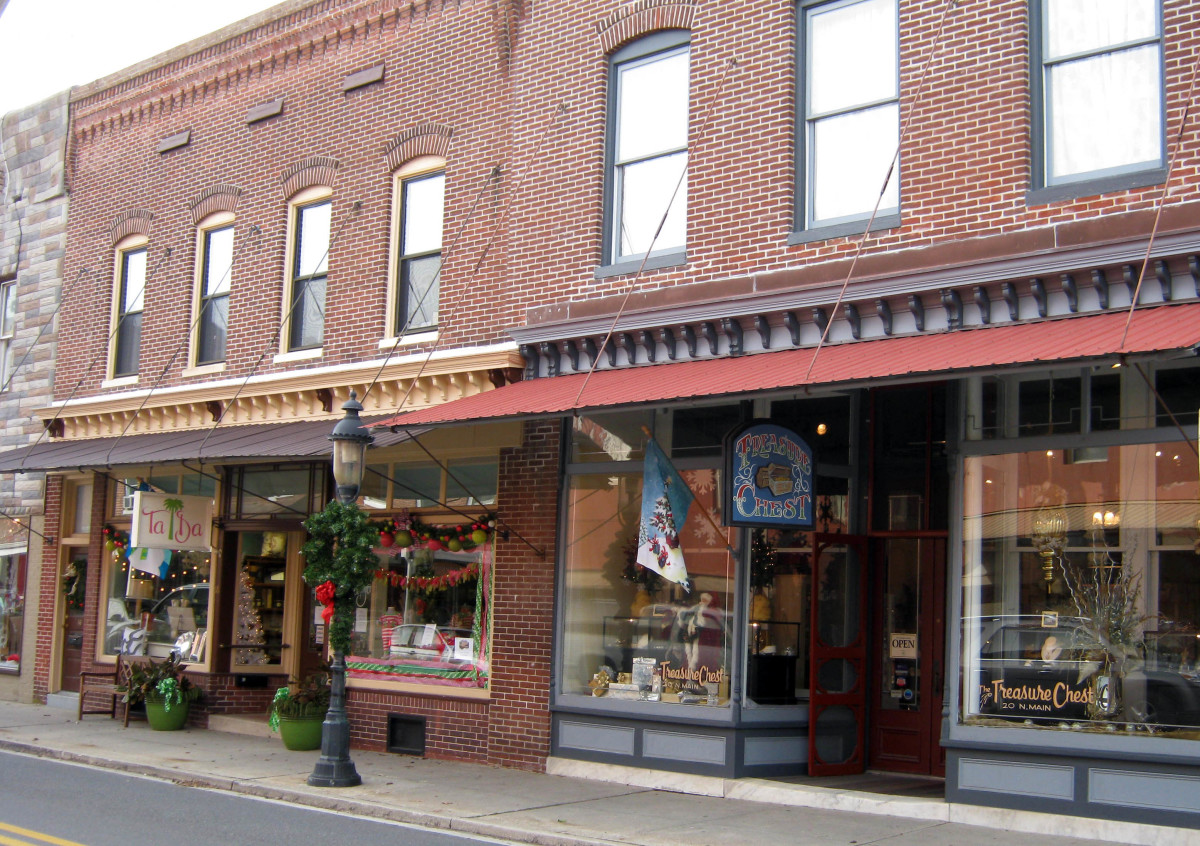 Old shops in Berlin, Maryland