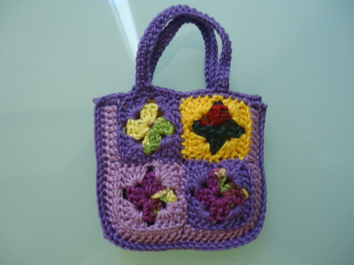 Granny Square Shopping Tote Bag