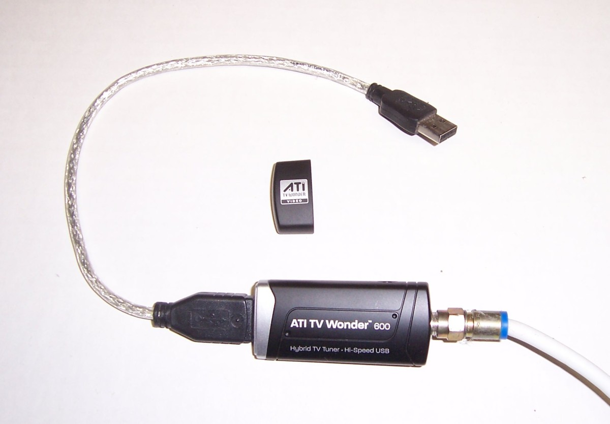 This is my personal USB TV tuner.  It came with the extender cable to make it easy to hook up to a PC