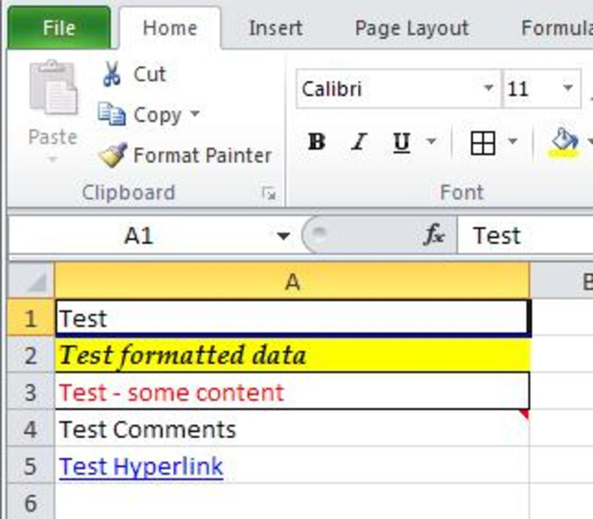 MS Excel Tutorial-Clearing Options