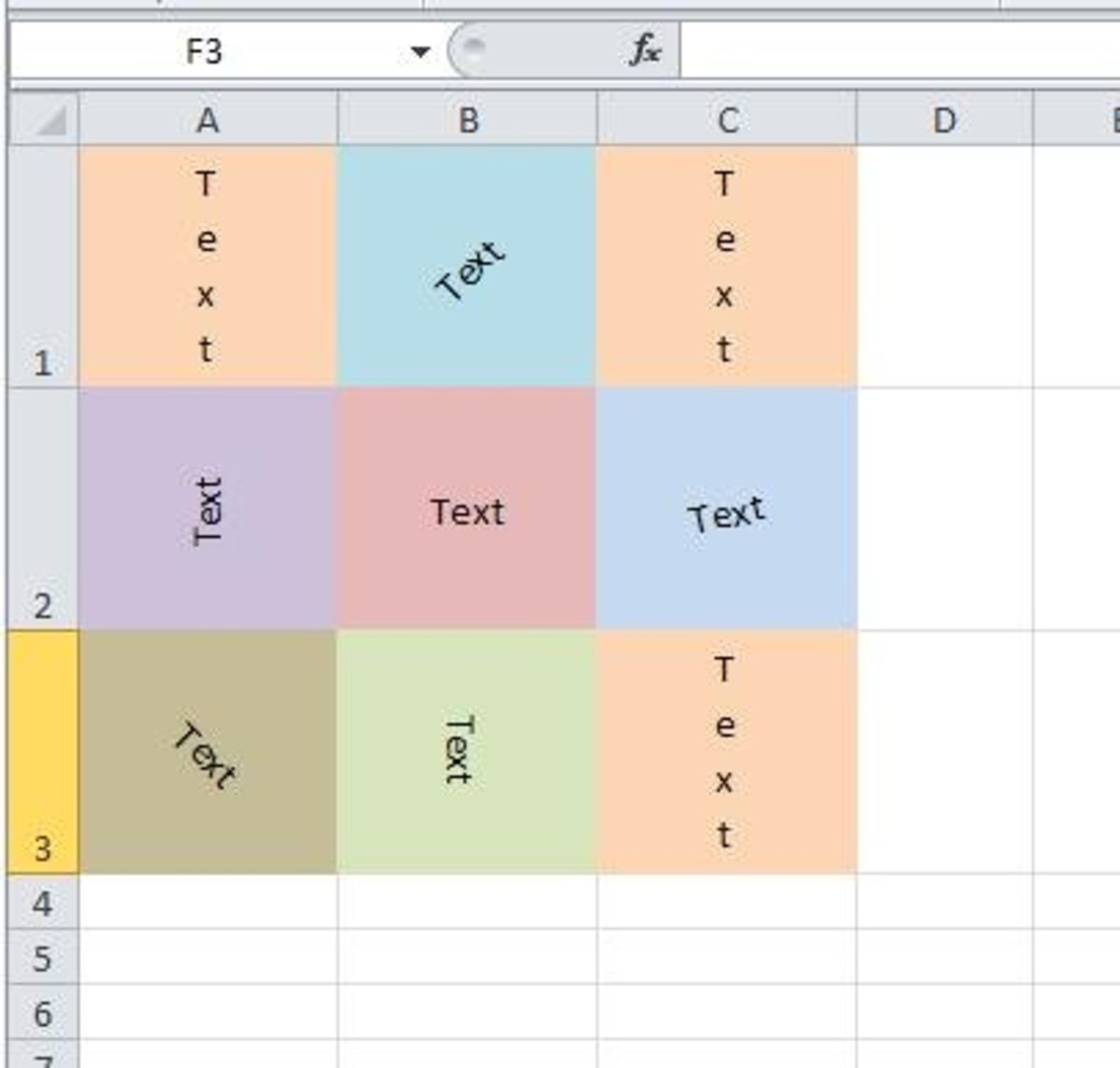 Tutorial – MS Excel – How to Write Text Vertically or at an Angle in an Excel Sheet