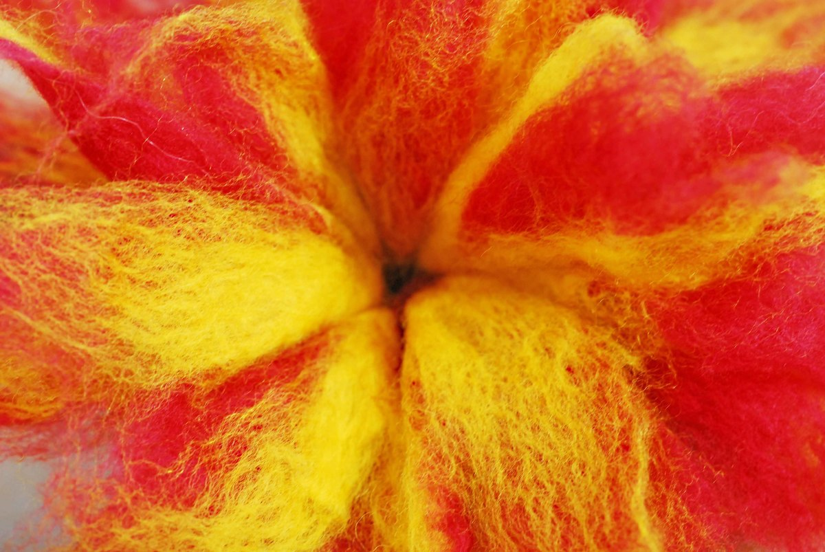 Wet Felted 3D Felt Flower