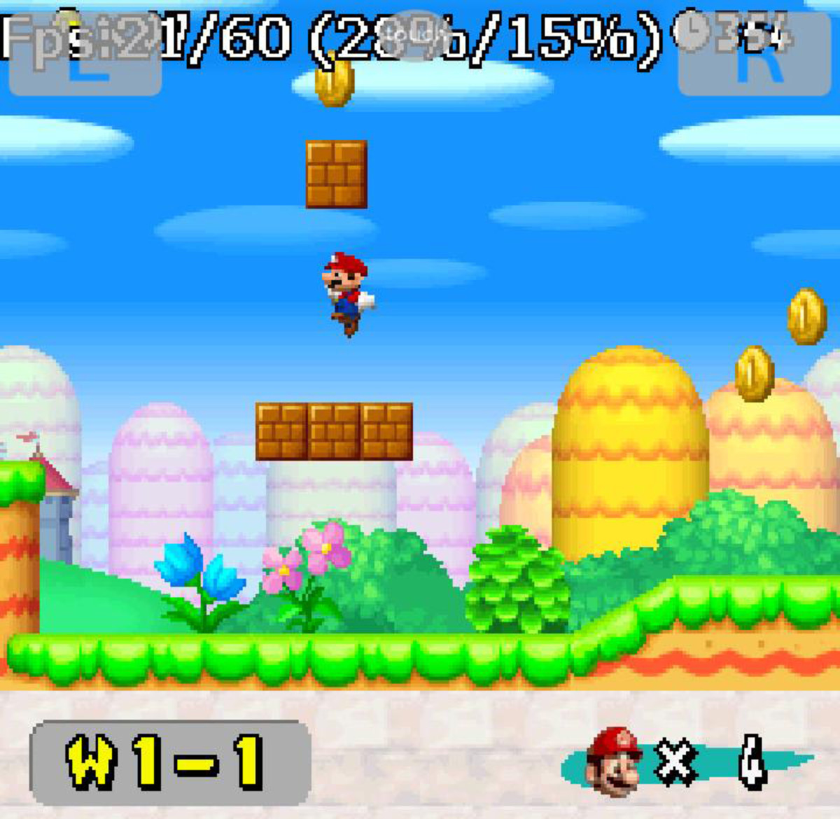 NDS4Droid Emulates a Mario Game (Check Frame Rate)