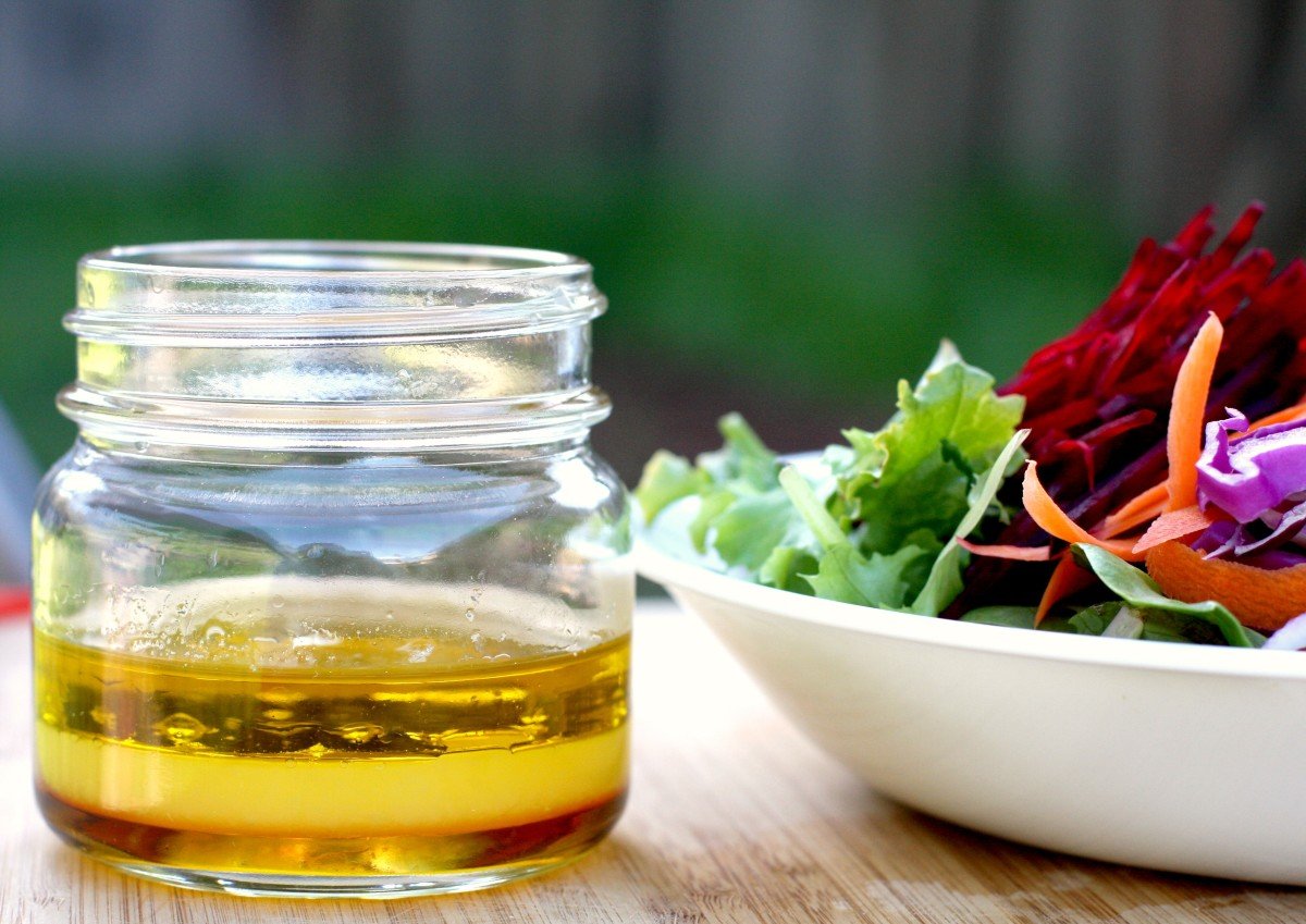 Homemade salad dressing is surprisingly easy to make.