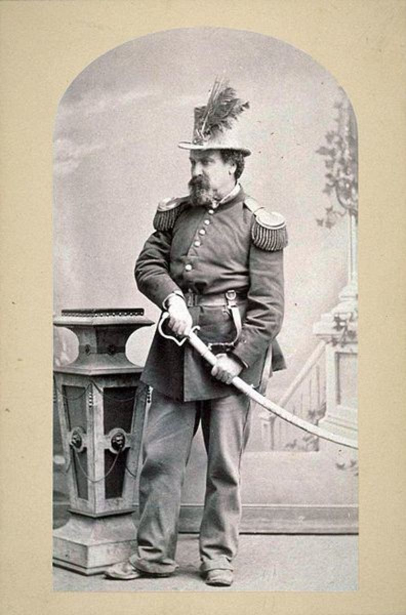 Emperor Norton in his full regalia