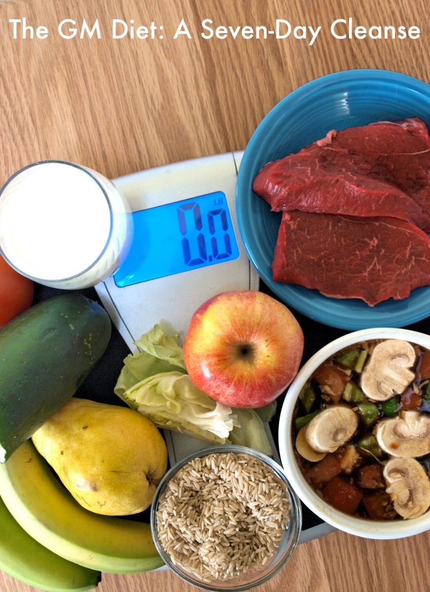 The General Motors (GM) seven-day diet consists of different foods each day.
