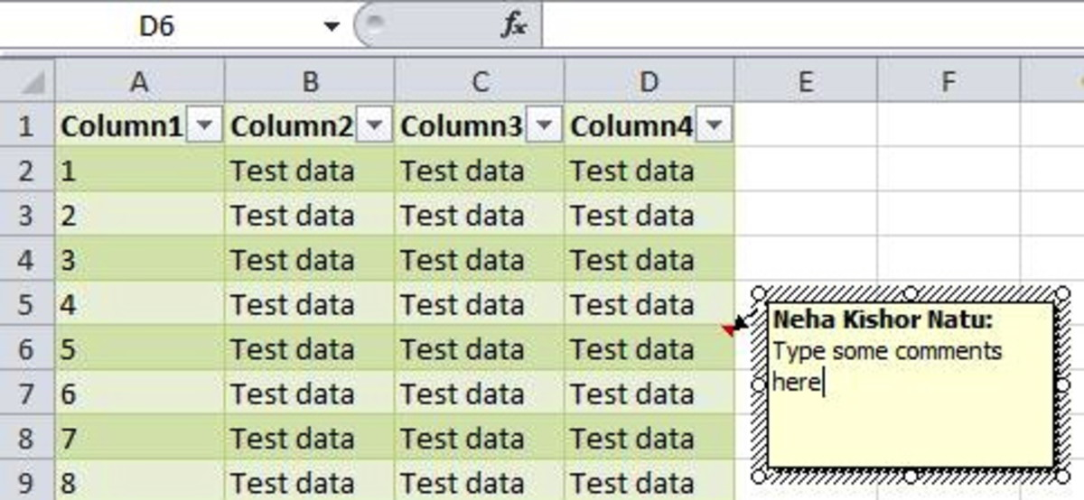 MS Excel Tutorial-How to Add Comments to a Cell in a Sheet