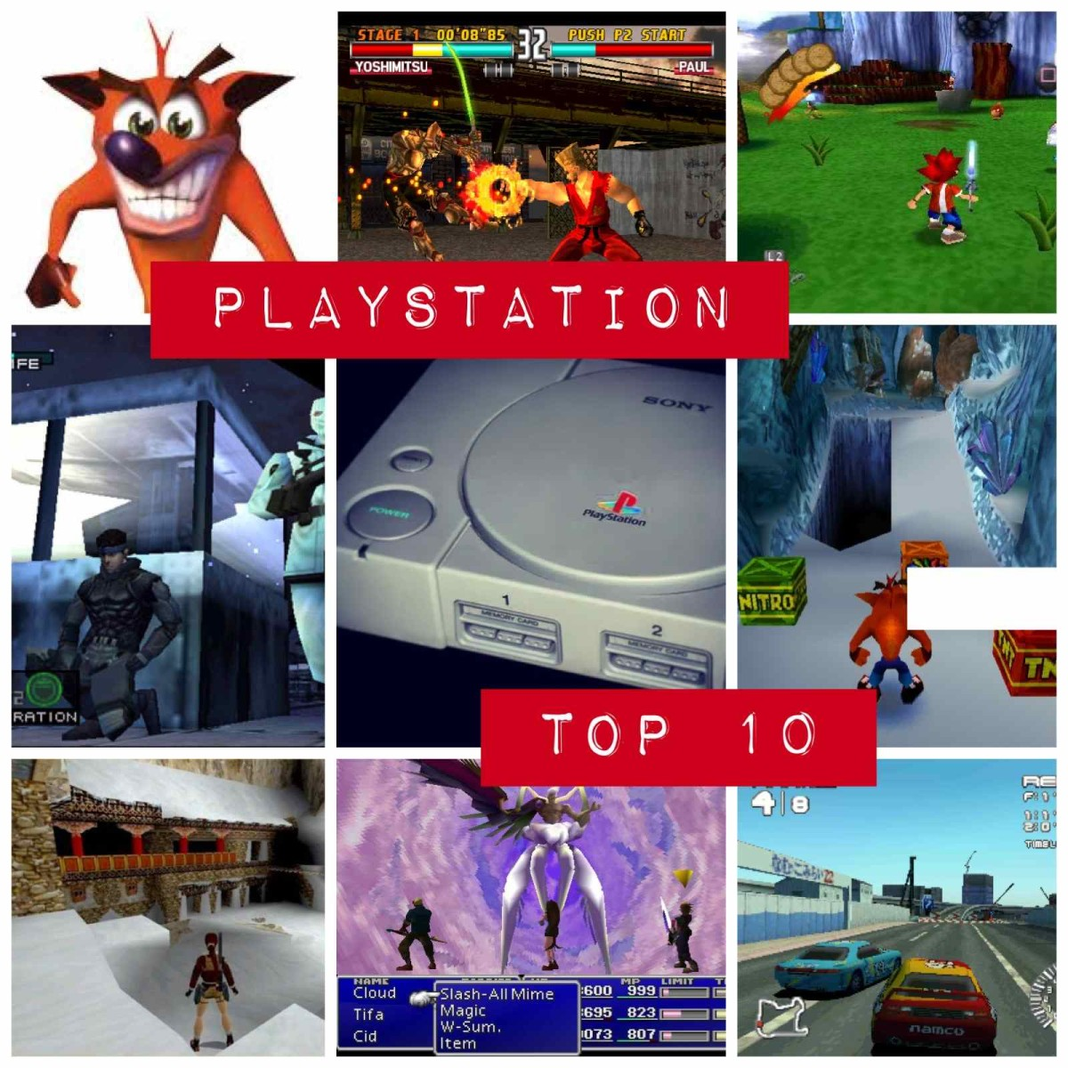 Top 10 Playstation 1 Games - The Best Of The Best