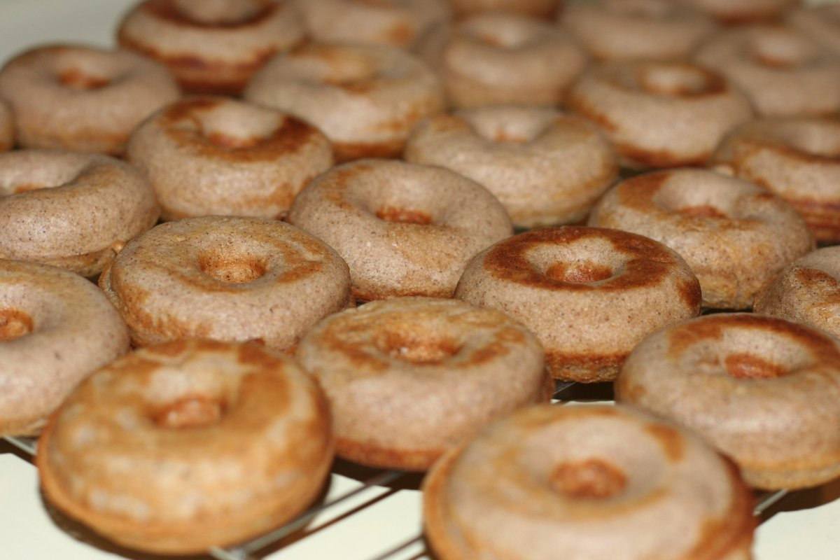 Fresh homemade baked donuts