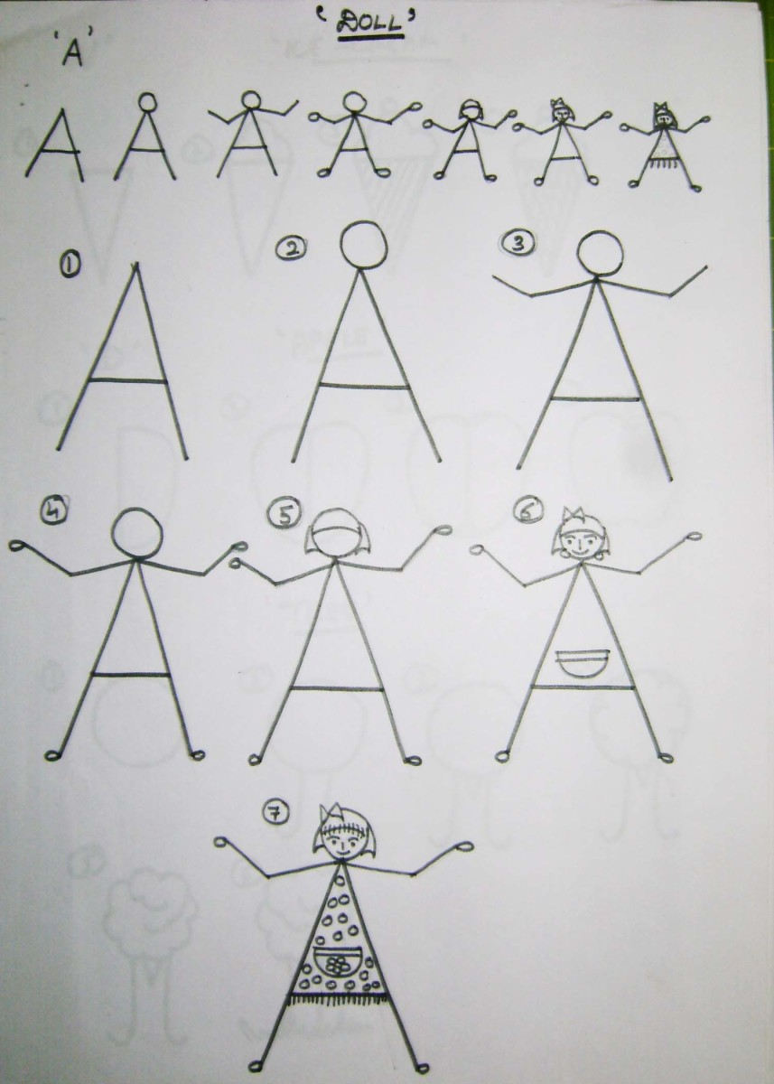 Simple Drawing Using Lines : How to teach kids draw using the alphabet feltmagnet